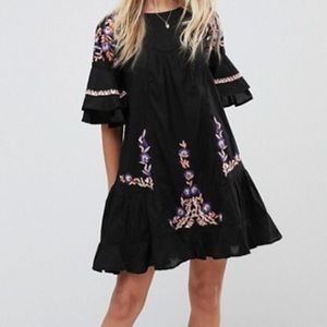 Brand new Free People embroidered smock dress